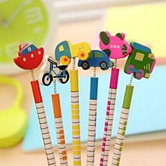 preiswerte Zubehör zum Zeichnen und Schreiben-Verkehr Werkzeuge Zierde Holz Bleistift-Set (6 Stück)