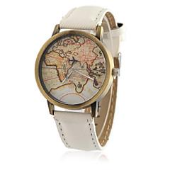 preiswerte Tolle Angebote auf Uhren-Herrn Quartz Armbanduhr Cool / Armbanduhren für den Alltag PU Band Retro / Freizeit / Weltkarte Muster / Modisch Schwarz