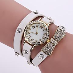 cheap Bracelet Watches-Women's Quartz Bracelet Watch Casual Watch Leather Band Flower Fashion Black White Blue Orange Brown Pink