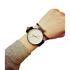 お買い得  レディース腕時計-女性用 リストウォッチ クォーツ ホット販売 PU バンド ハンズ チャーム ファッション ブラック / 白 - ホワイト ブラック ホワイト-ブラック