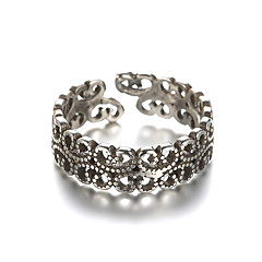 Anéis Vintage Diário / Casual Jóias Prata de Lei Anéis Grossos 1pç,Ajustável Prateado
