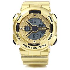 preiswerte Herrenuhren-Herrn digital Armbanduhr / Sportuhr Alarm / Kalender / Chronograph / Wasserdicht / Cool PU Band Silber / Gold / Rotgold