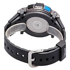 お買い得  メンズ腕時計-PASNEW 男性用 スポーツウォッチ デジタル 30 m PU バンド デジタル ブラック / 白 / ブルー - ブラック / レッド ブラック / イエロー ブラック / ブルー