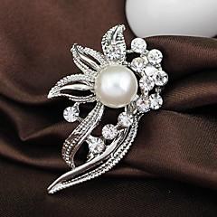 hesapli -Kadın Broşlar Moda kostüm takısı Yapay Elmas alaşım Mücevher Uyumluluk Düğün Parti Özel Anlar Doğumgünü Günlük