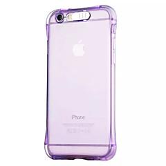 Недорогие Кейсы для iPhone 6 Plus-Кейс для Назначение Apple iPhone 6 iPhone 6 Plus Мигающая LED подсветка Прозрачный Кейс на заднюю панель Сплошной цвет Мягкий ТПУ для