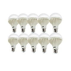 お買い得  LED 電球-YouOKLight 10個 900 lm E26 / E27 LEDボール型電球 A80 18 LEDビーズ SMD 5630 装飾用 温白色 / クールホワイト 220-240 V / RoHs