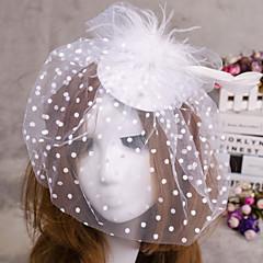 цветок перо вуаль чародей шляпы волос украшения для свадьбы