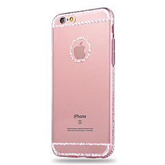 Для Кейс для iPhone 6 / Кейс для iPhone 6 Plus Стразы / Прозрачный Кейс для Задняя крышка Кейс для Один цвет Мягкий TPUiPhone 6s Plus/6