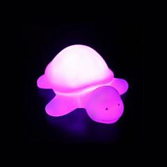abordables Luces de Interior-creadora de la tortuga del arco iris de acrílico cambio de color condujo la noche las luces de colores hermosa decoración del hogar