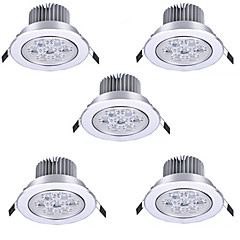 abordables Luces de Interior-5pcs 7 W LED Ceilling Light Recessed Downlight Focos LED 7 Cuentas LED LED de Alta Potencia Decorativa Blanco Cálido / Blanco Fresco 85-265 V / Cañas / 90