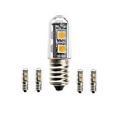 1.5W E14 Lâmpadas Espiga Encaixe Embutido 7 leds SMD 5050 Impermeável Decorativa Branco Quente Branco Frio 3000-3500/6000-6500/7500-8500