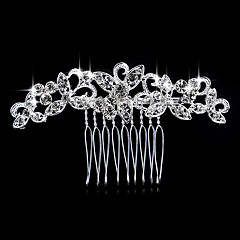 cheap Hair Jewelry-Women's Elegant Crystal Imitation Diamond Hair Comb