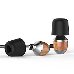 halpa Korvakuulokkeet (tulppakuulokkeet, korvansisäiset)-vjjb k4s palkkio aitoa puuta corded -tulppakuulokkeilla raskas basso melua vaimentavat älypuhelimelle mikrofonilla
