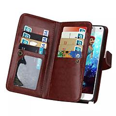 Недорогие Чехлы и кейсы для Galaxy Note 5-Кейс для Назначение SSamsung Galaxy Samsung Galaxy Note7 Бумажник для карт Кошелек Флип Магнитный Чехол Сплошной цвет Кожа PU для Note 7