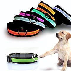 お買い得  犬用ウェア&アクセサリー-ネコ 犬 ネックレス 犬用ウェア ソリッド イエロー レッド グリーン ブルー ピンク ナイロン コスチューム ペット用 男性用 女性用 LED ファッション