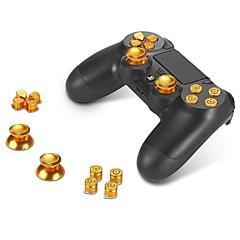 botones de metal ABXY agarre botones + thumbsticks pulgar y el cromo d-pad para Sony PS4 DualShock controlador de 4 kit mod