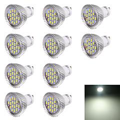お買い得  LED 電球-10個 6000 lm GU10 LEDスポットライト R63 16 LEDビーズ SMD 5630 装飾用 クールホワイト 220-240 V