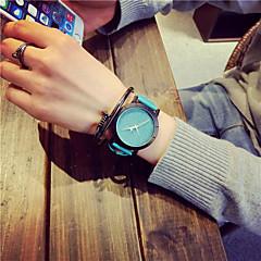 お買い得  レディース腕時計-女性用 リストウォッチ クォーツ ホット販売 レザー バンド ハンズ チャーム カジュアル ファッション ブラック / ブルー / グリーン - フクシャ ブルー ライトグリーン