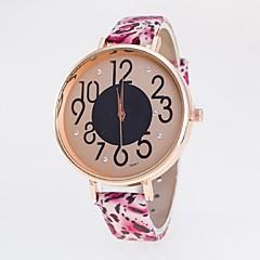 preiswerte Damenuhren-Damen Quartz Armbanduhr Armbanduhren für den Alltag PU Band Leopard Modisch Mehrfarbig
