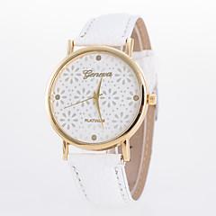 preiswerte Tolle Angebote auf Uhren-Damen Armbanduhr Quartz Schlussverkauf PU Band Analog Blume Freizeit Modisch Schwarz / Weiß / Blau - Grün Rosa Königsblau