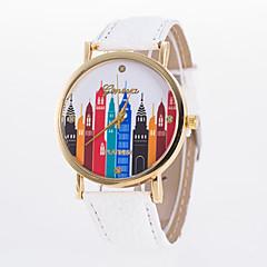 voordelige Bekijk deals-Dames Modieus horloge Vrijetijdshorloge Kwarts Vrijetijdshorloge PU Band Elegant Zwart Wit Blauw Rood Orange Bruin Groen Roze Paars Geel