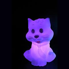 abordables Luces de Interior-que cambian de color el pequeño gato colorido la noche light creativa