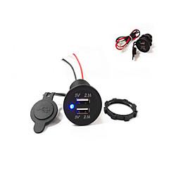 Недорогие Автоэлектроника-двойной USB автомобильное зарядное устройство 5v 4.2a высокое качество! водонепроницаемый!