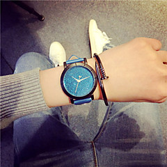 preiswerte Tolle Angebote auf Uhren-Damen Armbanduhr Quartz Schlussverkauf Leder Band Analog Charme Freizeit Modisch Schwarz / Blau / Grün - Fuchsia Blau Leicht Grün
