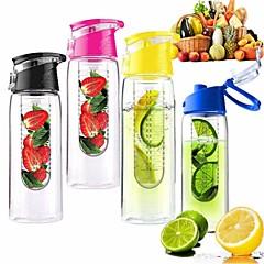 800 ml pyöräily sport hedelmät infuusio infuser vettä sitruunan cup mehu polkupyörä terveys ympäristöystävällisiä (random väri)