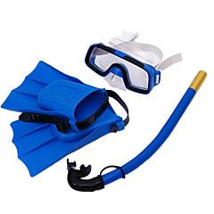 baratos -Kits para Snorkeling Fins de Mergulho Máscaras de mergulho Snorkels Máscara de Mergulho Crianças Natação Mergulho Neoprene