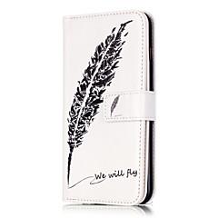 Для Кейс для iPhone 6 / Кейс для iPhone 6 Plus Бумажник для карт / со стендом / Флип Кейс для Чехол Кейс для Перо ТвердыйИскусственная