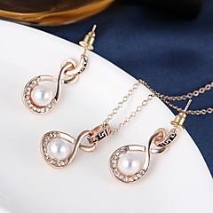 abordables Set de Joyas Vintage-Joyas Collares / Pendientes Collar / pendientes Perla Artificial Boda / Fiesta / Diario 1 Set Mujer Dorado Regalos de boda