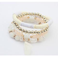 Dames Bedelarmbanden Strand Armbanden Modieus Europees Kostuum juwelen Acryl Glas Legering Veer Sieraden Voor Bruiloft Feest Dagelijks