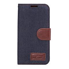 Mert Samsung Galaxy tok Kártyatartó / Állvánnyal / Flip Case Teljes védelem Case Egyszínű Műbőr SamsungS7 edge / S7 / S6 edge plus / S6