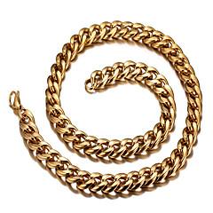 Ανδρικά Γυναικεία Κολιέ Τσόκερ Τιτάνιο Ατσάλι 18K χρυσό Μοντέρνα Ευρωπαϊκό Εξατομικευόμενο κοστούμι κοστουμιών Κοσμήματα Για Καθημερινά