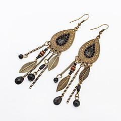 billige Øreringe-Dame Dråbeøreringe Statement-smykker Mode Europæisk Harpiks Legering Cirkelformet Bladformet Smykker Fest Daglig Afslappet Kostume smykker