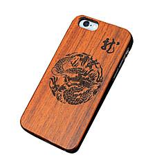 billige iPhone 5-etuier-For iPhone 5 etui Etuier Mønster Præget Bagcover Etui Imiteret træ Hårdt Træ for iPhone SE/5s iPhone 5