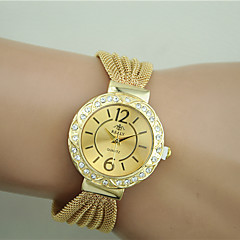 voordelige Armbandhorloges-Dames Kwarts Armbandhorloge imitatie Diamond Legering Band Elegant Modieus Zwart Zilver Bruin Goud