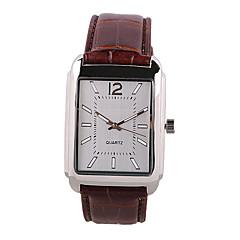 preiswerte Herrenuhren-Herrn Armbanduhr Quartz Armbanduhren für den Alltag PU Band Analog Charme Modisch Braun - Braun