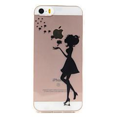 Недорогие Кейсы для iPhone 5-Кейс для Назначение iPhone 7 Plus IPhone 7 iPhone SE/5s/5 iPhone 5 Apple iPhone X iPhone X iPhone 8 Кейс для iPhone 5 Прозрачный С узором