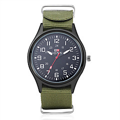 お買い得  メンズ腕時計-男性用 軍用腕時計 リストウォッチ クォーツ 30 m 耐水 生地 バンド ハンズ チャーム ブラック / グリーン - ブラック グリーン 1年間 電池寿命 / SODA AG4