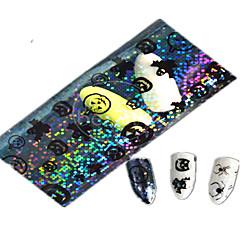 1pcs 100 * 4cm transparente calabaza de Halloween fantasma preciosas uñas aminal imagen del brillo del arte pegatinas decoración de uñas