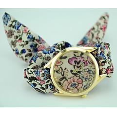 お買い得  大特価腕時計-女性用 ファッションウォッチ ブレスレットウォッチ クォーツ 生地 バンド 花型 ボヘミアンスタイル ブラック ブルー グリーン パープル ベージュ