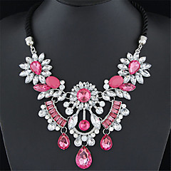 preiswerte Halsketten-Damen Statement Ketten - Europäisch, Modisch Rot, Grün, Regenbogen Modische Halsketten Für Hochzeit, Party, Alltag