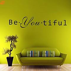 워드&인용구(부호) / 로맨스 / 패션 / 판타지 벽 스티커 플레인 월스티커,PVC 11*58cm