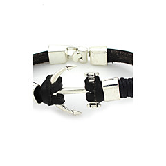 billige Herre Smykker-Herre Dame Manchetarmbånd Unikt design Mode Læder Nylon Legering Smykker Smykker Til Bryllup Fest Daglig Afslappet Sport