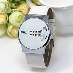 preiswerte Armbanduhren für Paare-Herrn Armbanduhr Digital Wasserdicht Armbanduhren für den Alltag Cool PU Band digital Freizeit Schwarz / Weiß - Weiß Schwarz / Edelstahl