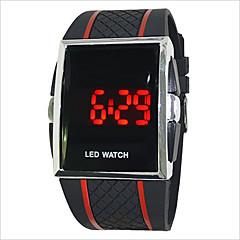 お買い得  メンズ腕時計-男性用 女性用 カップル用 スポーツウォッチ デジタル 30 m タッチスクリーン LED PU バンド デジタル チャーム ブラック / 白 / レッド - ホワイト ブラック ブラック / レッド 1年間 電池寿命 / SODA AG4