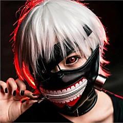 olcso -hűvös cosplay tokyo ghoul kaneki ken halloween party állítható cipzárral prop maszk