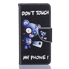 Недорогие Чехлы и кейсы для LG-Кейс для Назначение LG K8 LG LG K10 LG K7 Кейс для LG Бумажник для карт Кошелек со стендом Флип С узором Чехол Слова / выражения Твердый